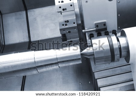 The machine is being processed - stock photo