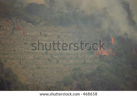 The Machu Picchu 1997 Fire Disaster - stock photo