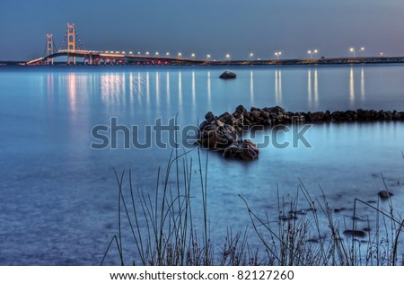 The Mackinac Bridge from Straits State Park