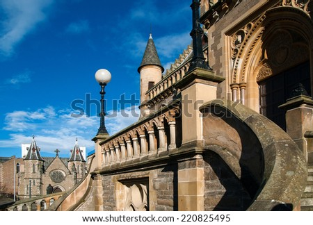 The Macmanus galleries in Dundee, Scotland - stock photo