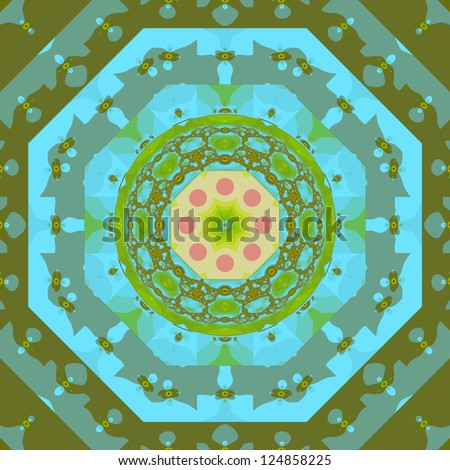 The magic fractal background - stock photo