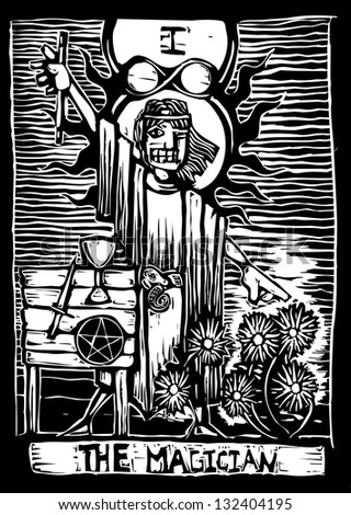 the magician is the second image in a tarot card deck.