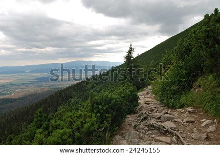 The Magistrala pathway in the High Tatra - Slovakia