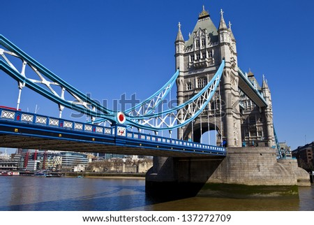 The magnificent Tower Bridge in London.