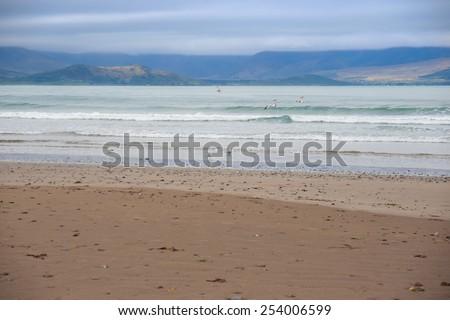 the maharees a beautiful beach in county Kerry Ireland  - stock photo