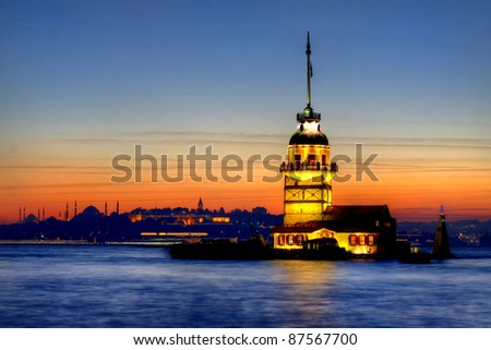 The Maiden's Tower in Istanbul - stock photo