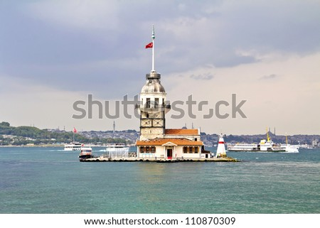 The Maiden's Tower in Istanbul, Turkey - stock photo