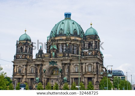 The main Berliner Dom cathedral, Berlin - stock photo