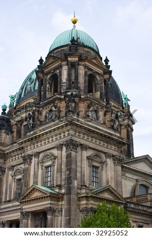 The main Berliner Dom cathedral element, Berlin - stock photo
