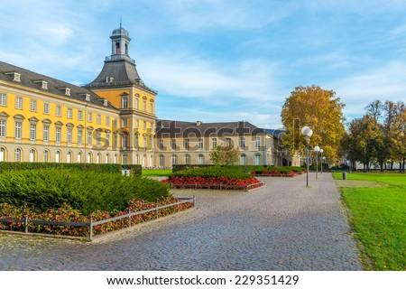 The main building of Bonn University - stock photo