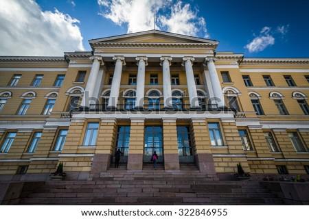 The Main Building of the University of Helsinki, in Helsinki, Finland. - stock photo