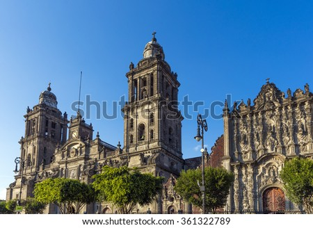 The main cathedral in Mexico city