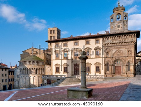The Main Square, Arezzo, Italy - stock photo