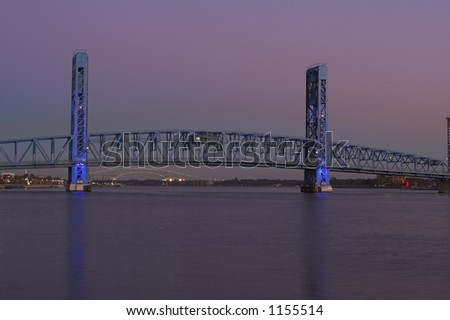 The Main Street Beach in Jacksonville Florida at dusk - stock photo