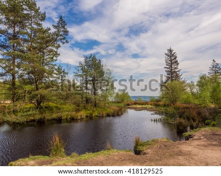 The main Tarn Area at beacon Fell Country Park, Lancashire, UK