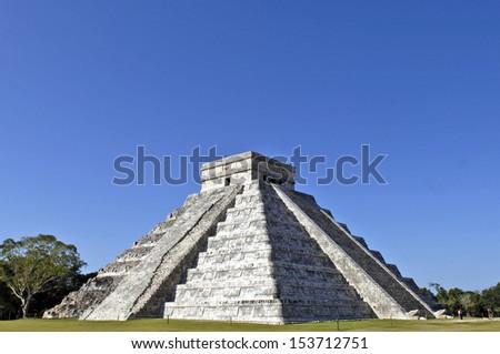The main Ziggurat from several angles in Chichen Itza, Yucatan, Mexico, 2007. - stock photo