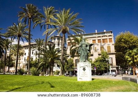 The mainstreet in Palma de Mallorca, Mallorca, Balearic islands, Spain - stock photo