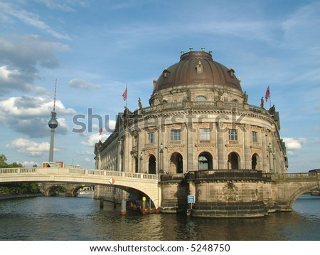 The Majestic Bode Museum on the Spree River in Berlin - stock photo