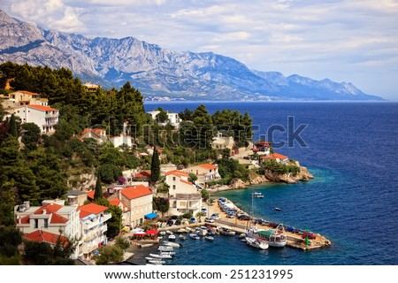 The Makarska Riviera is a part of the Croatian coast of the Adriatic Sea - stock photo