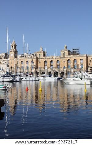 The Maltese Maritime Museum in Cottonera, Malta - stock photo