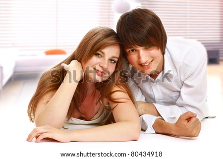 The man and woman - stock photo
