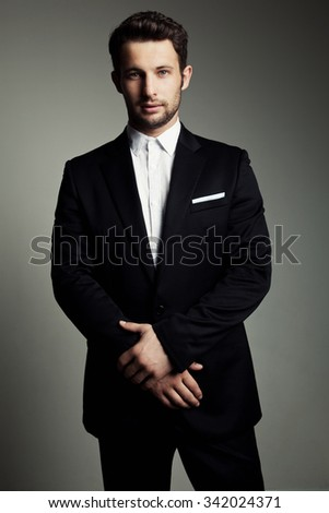 The man in a suit - stock photo
