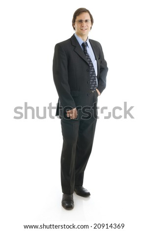 The man in a suit isolated on a white background