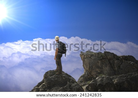 The man on the summit