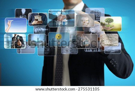 the man preview digital photo, new technology computer - stock photo