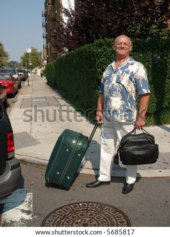 The Man with suitcases.