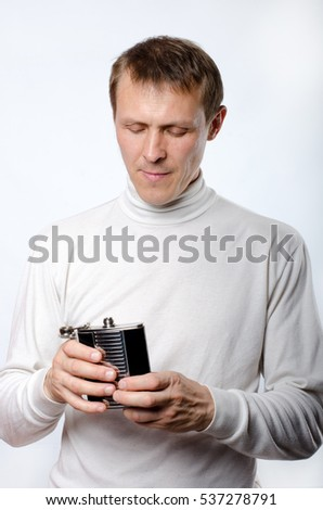 the man with the flask of water
