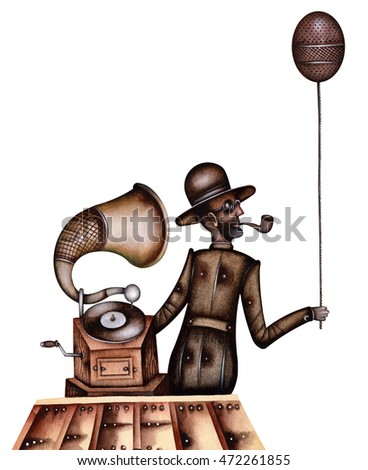 The man with the gramophone