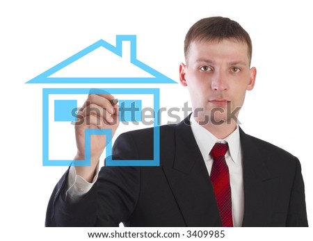 The manager on sale of the real estate. - stock photo