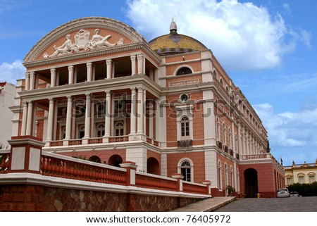 The Manaus Opera House, on the Amazon, Brazil - stock photo