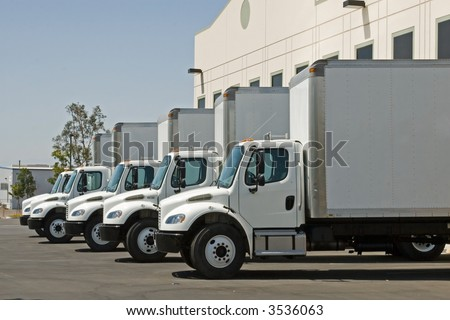 The many means of transporting the cargo and freight of world trade - stock photo