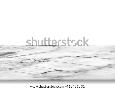 The marble isolated on the white background.