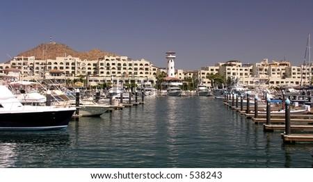 The marina of Cabo San Lucas / Mexico - stock photo