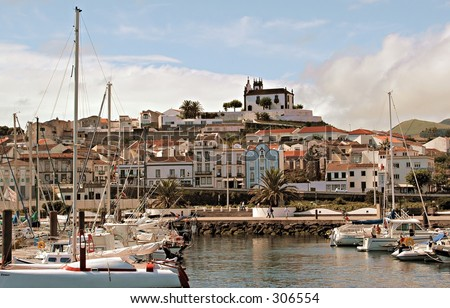 The marina of Sao Miguel, The Azores Islands, Portugal - stock photo