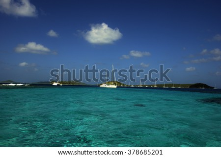 The marine park in Tortuga Cayes in the Grenadines