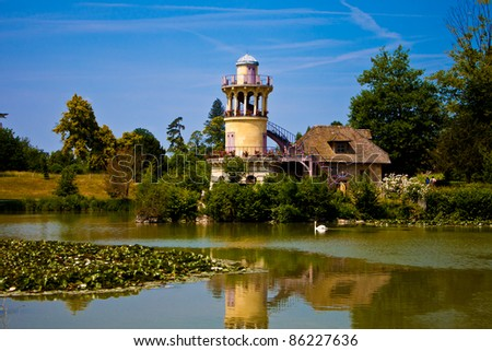 The Marlborough Tower at Marie Antoniette's Hamlet (Hameau de la Reine) in Versailles.