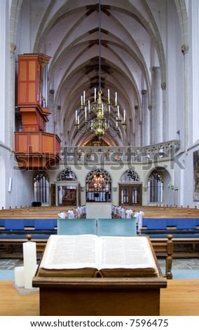 The marriage chapel in Saint George church at Amersfoort, Holland