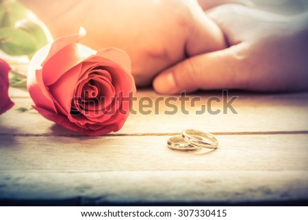 The marriage with love - stock photo
