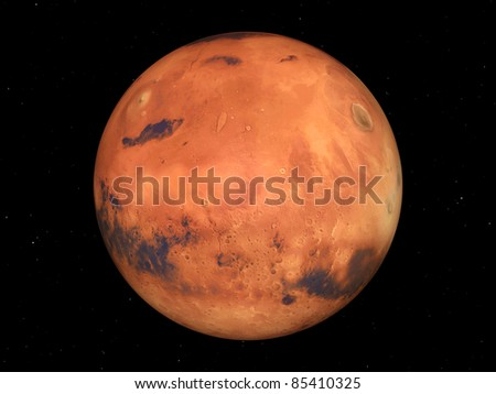 The Mars Computer generated 3D illustration - stock photo
