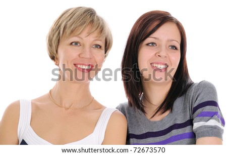 The mature woman and her adult daughter.