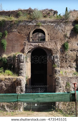 The Mausoleum of Augustus, Tomb built by Roman Emperor Augustus in 28 BC on The Campus Martius. Rome. Itay