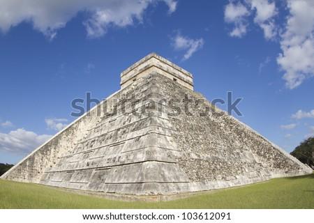 the mayan ruins at chichen itza, mexico. - stock photo