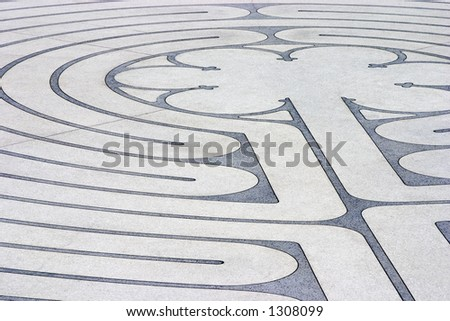 The mazelike labyrinth with its roots in Greek mythology. - stock photo