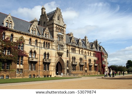 The Meadow Building, Christ Church College - stock photo