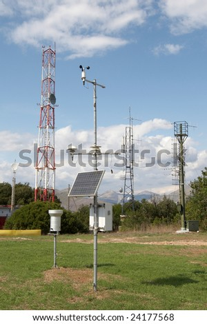 The measuring and telecommunication equipment - stock photo