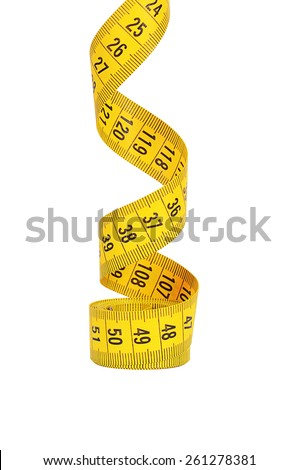 The measuring tape isolated on white background - stock photo